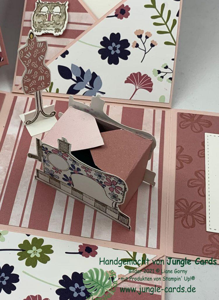 Explosionsbox, Stampin' Up!, Blumen voller Freude, Herrlich Blumig, Eulenfest, Gute-Laune-Gruß, Handgefertigt, Geburtstagsmix