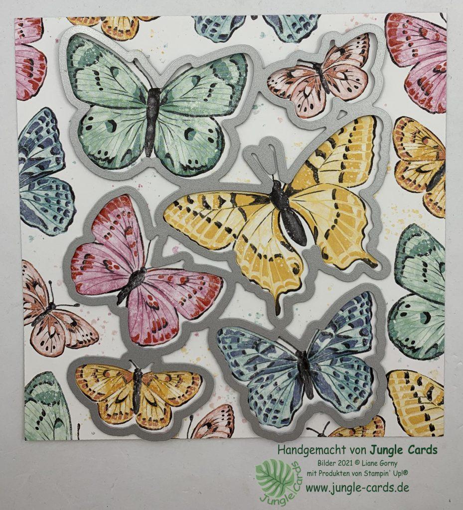 Stampin Up, Flügel voller Fanatsie, Schmetterlinge, Stanzformen, Designpapier