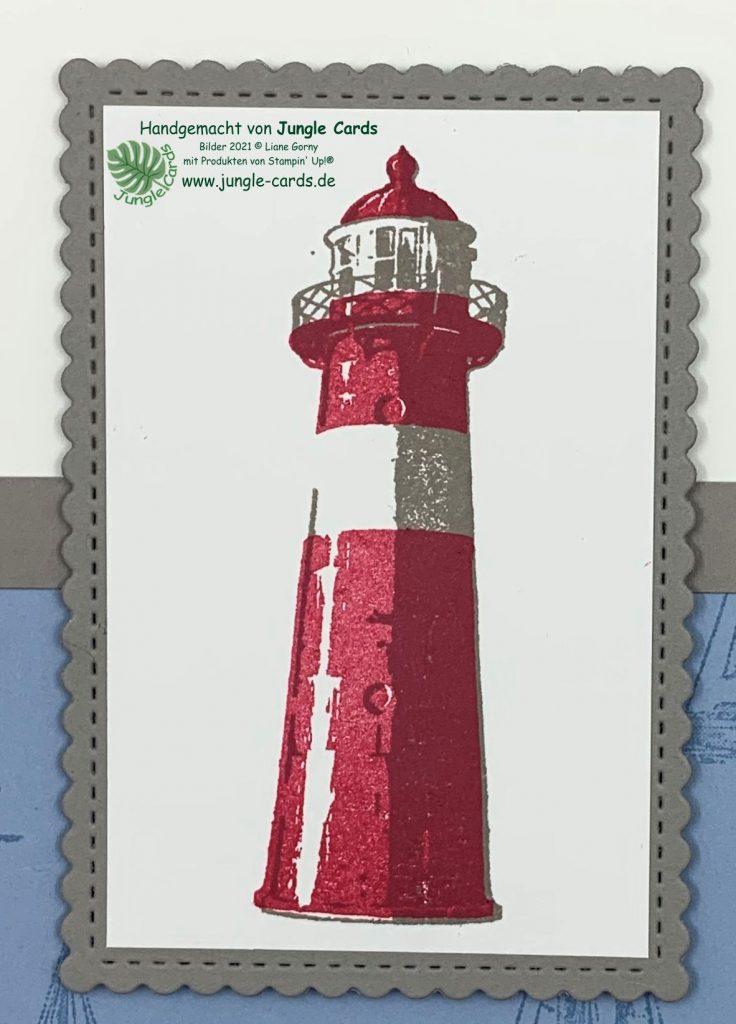 Stampin Up, maritime Karte, Glückwunsch, Setz die Segel, Durch die Gezeiten
