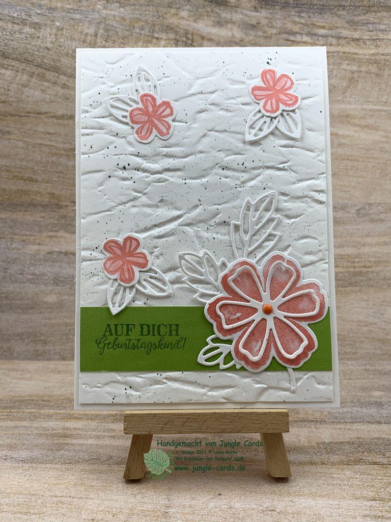 Stampin Up, Frühlingskarte, Blumen voller Freude, Anleitung, Farbchallange