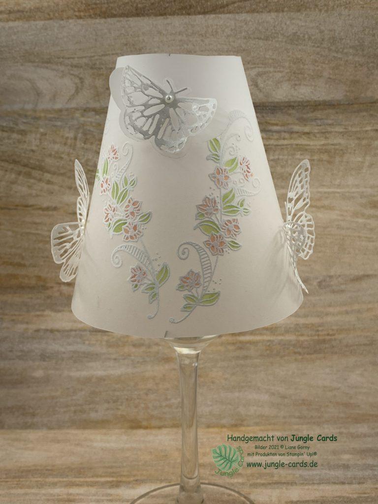 Stampin Up, Homedeko, Lampenschirm, Flügel voller Fantasie, Schmetterlinge, Butterfly Briliance