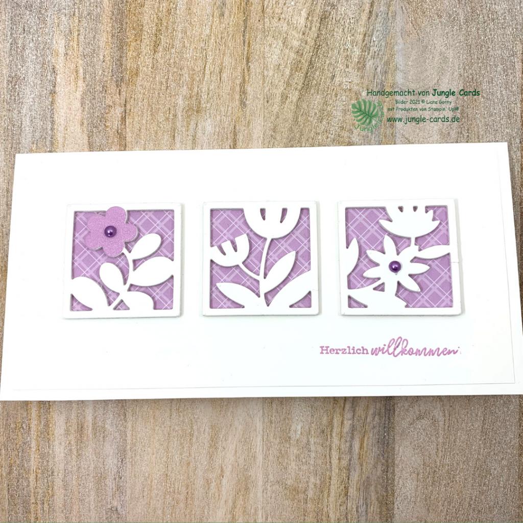 Willkommenskarte, Teamzuwachs, Team Jungle Cards, Florale Rechtecke, BlogHop, Basteln, Friedrichsdorf, neuer Katalog, Stampin' UP!, Grußkarte