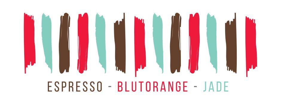 Farbvorgabe, Espresso, Blutorange, Jade