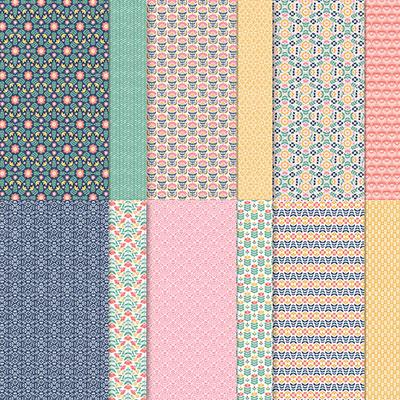 Designerpapier 12″ x 12″ (30,5 cm x 30,5 cm) Fantasie in Symmetrie – 155605