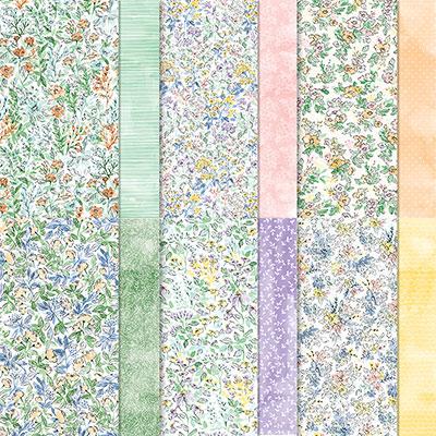 Designerpapier 12″ x 12″ (30,5 cm x 30,5 cm) Von Hand gemalt – 155499