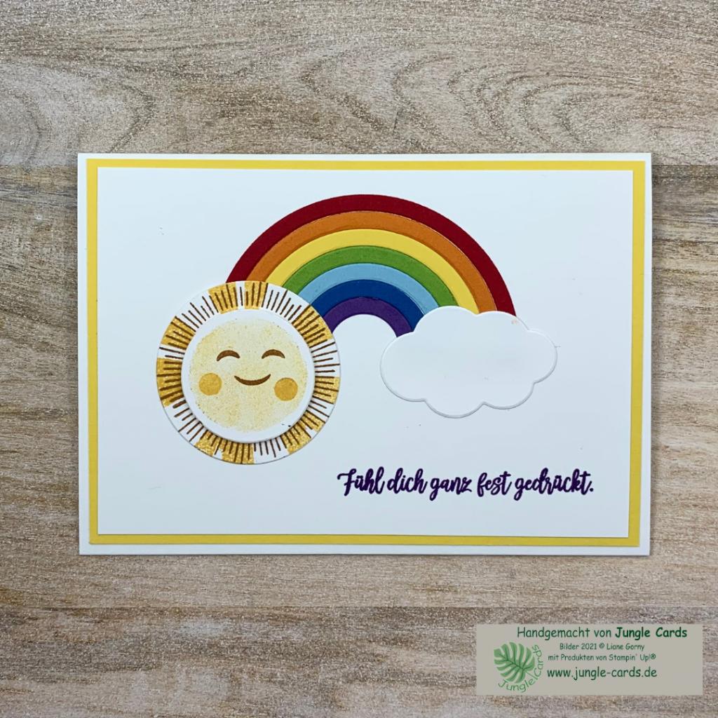 Mutmacher, Regenbogen, Sonne, Wolken, Hochwasser-Katastrophe