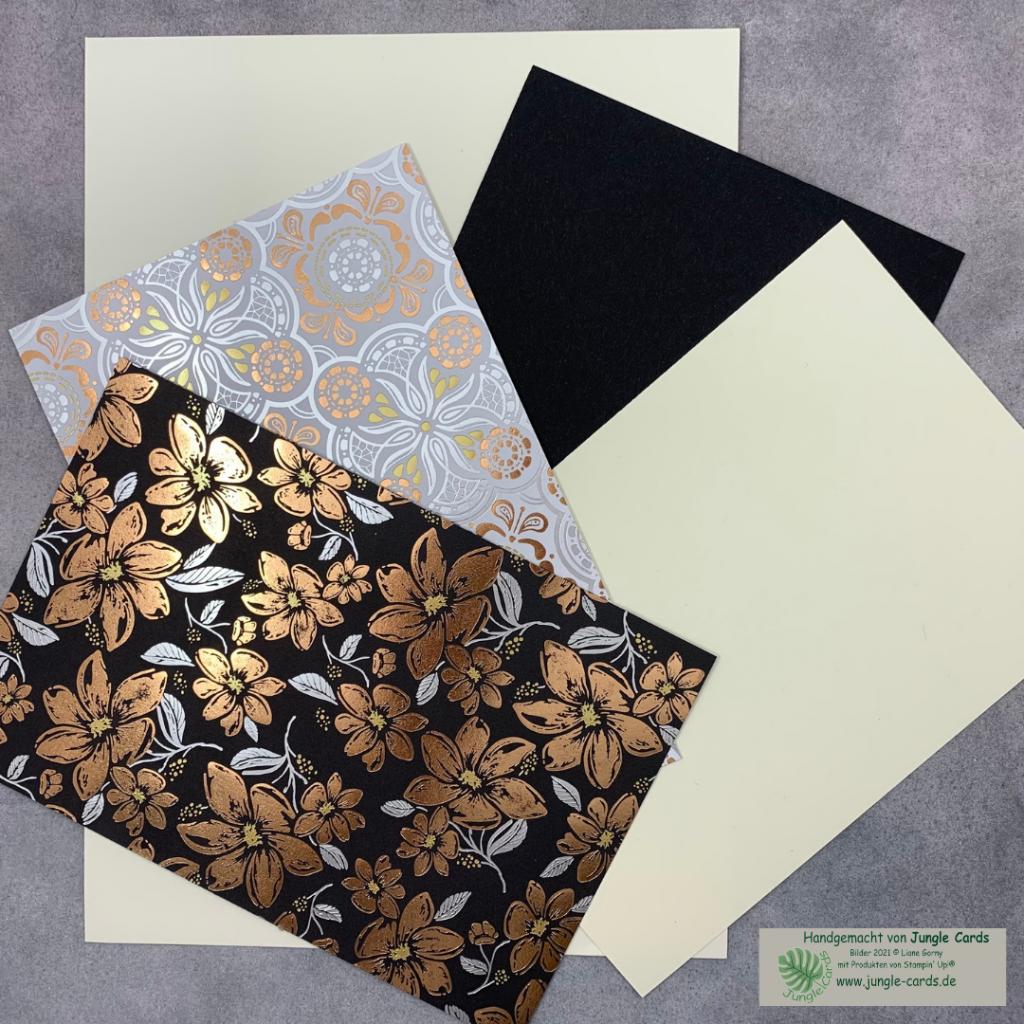 Materialpaket, Einfach Elegant, Designpapier, Farbkarton
