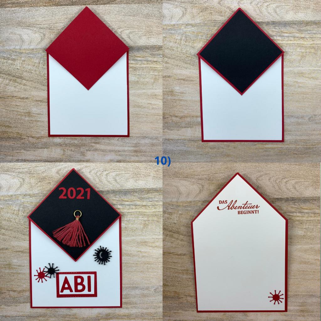 Kartentechnik, Schritt für Schritt Anleitung, Diamond Fold Card