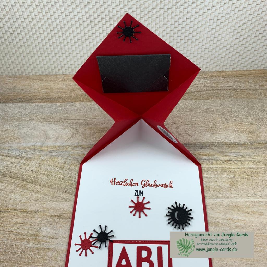 Kartentechnik, Schulabschluss, Abitur, Diamond Fold Card