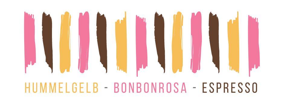 Farbchallenge, Hummelgelb, Bonbonrosa, Espresso