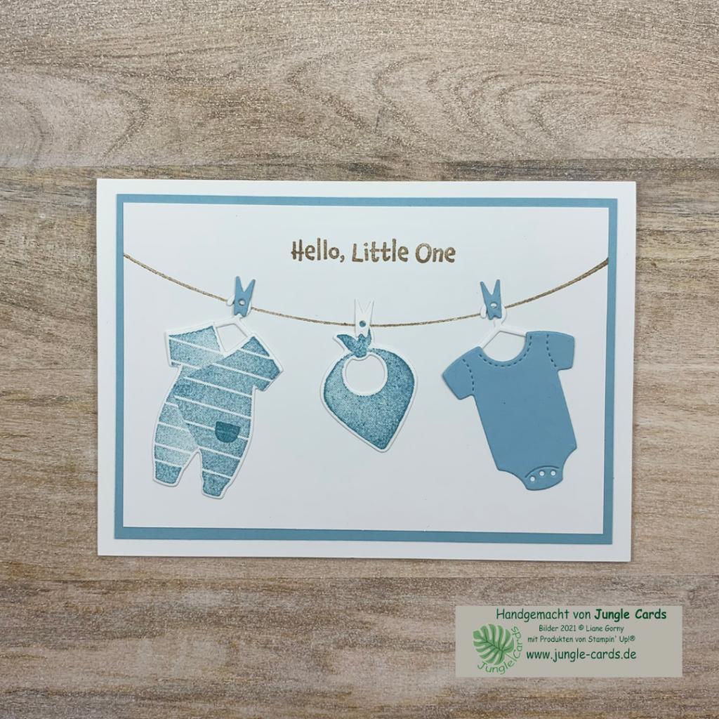 Babykarte mit Produktpaket All for Baby einfache Babykarte für einen Jungen