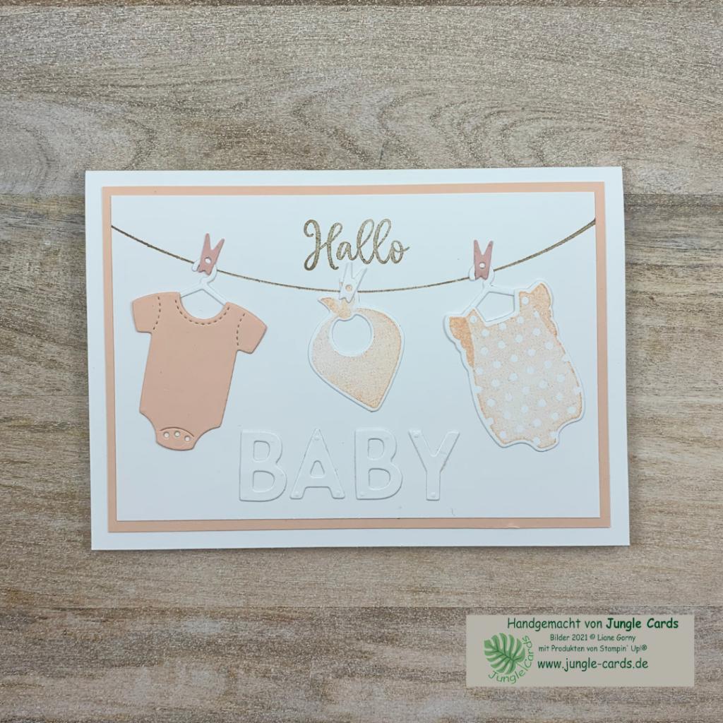 Babykarte mit Produktpaket All for Baby einfache Babykarte für ein Mädchen