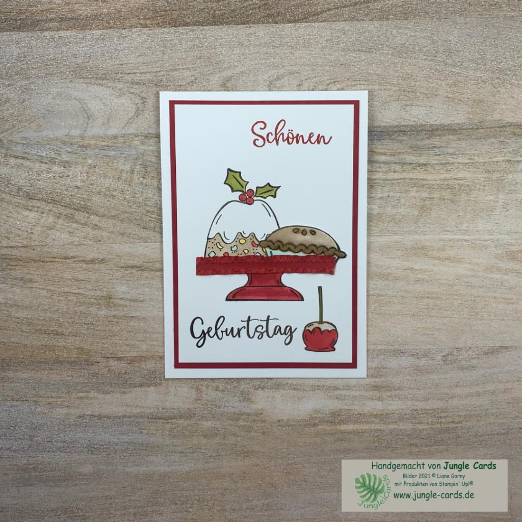 Herbst- Winterkatalog, Sweets & Treats, Geburtstagskarte, colorieren, große Wünsche