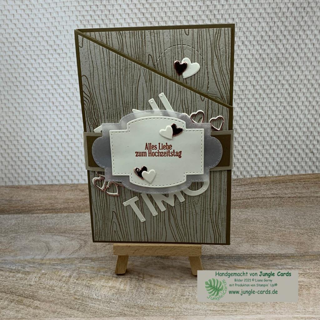 Miuri Fold Card, Hochzeitstag, besondere Grußkarte zum 10. Hochzeitstag