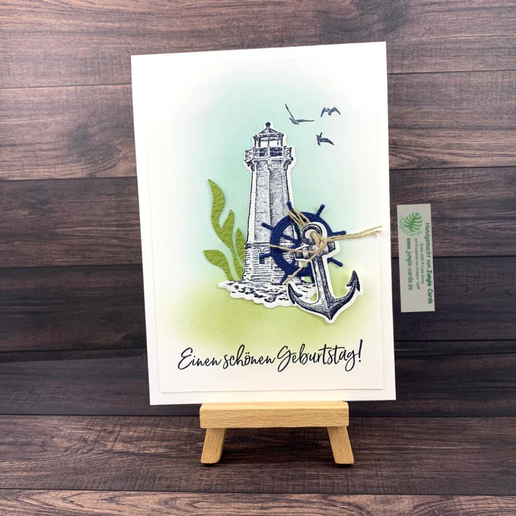 maritimer Geburtstagsgruß, Leuchturm