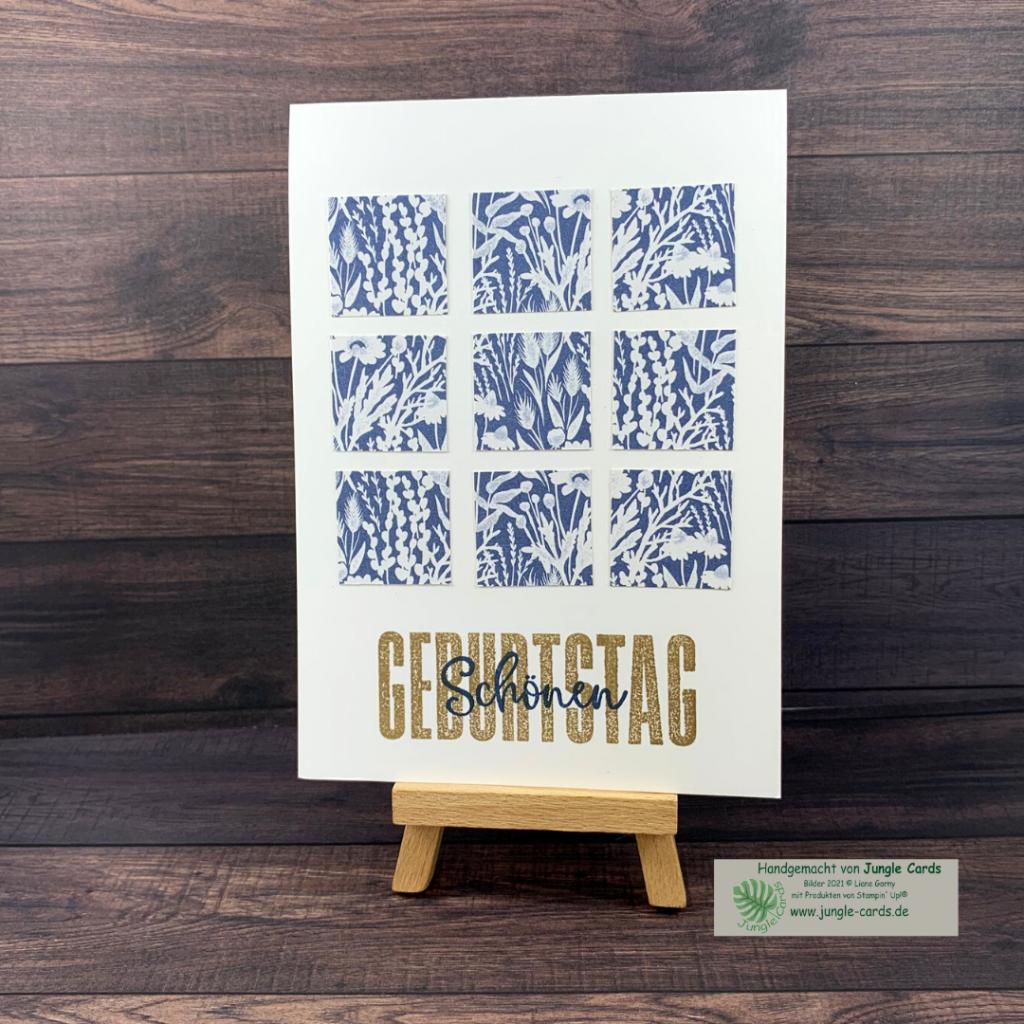 Stempelreise Blogparade, Clean und Simple, Designpapier, Herbstwiese, Geburtstagskarte