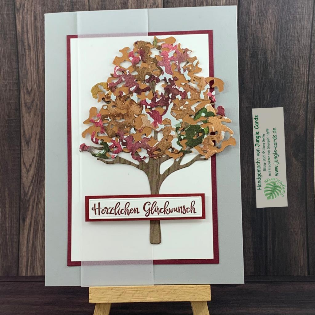 Herbst, Grusskarte, Schöne Natur, Herzlichen Glückwunsch, Laubbaum